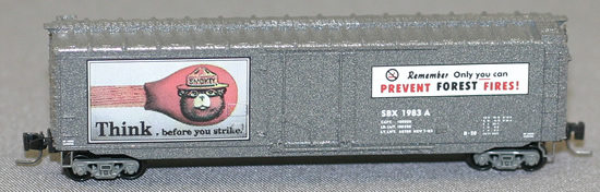Consignment MT50700350 - Micro Trains 50700350 50 Standard Box Car Smokey Bear Forest Fire Prevention Car #5