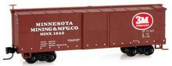 Consignment MT51500130 - Micro Trains 51500130 40 Standard Box Car of the Minnesota Mining & Mfg. Co. - 1040