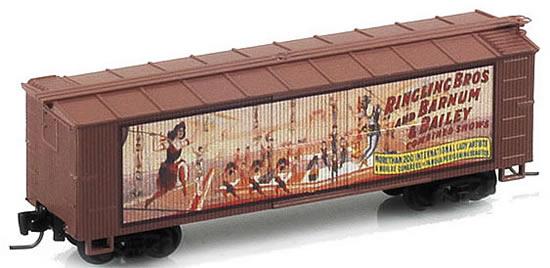 Consignment MT51500604 - Micro Trains 51500604 40 Wood Box Car Ringling Bros. and Barnum & Bailey Billboard Car #3