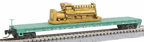 Consignment MT52400082 - Micro Trains 52400082 60 Flat Car w/Generator Load Great Northern GN 161158