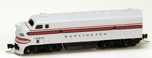 Consignment MT98001220 - Micro Trains 98001220 USA Diesel Locomotive F7-A-Unit Powered of the Chicago, Burlington & Quincy