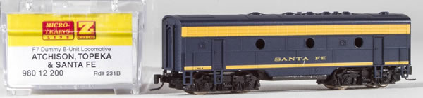 Consignment MT98012200 - Micro Trains 98012200 USA F7 Dummy B Unit of the AT&SF