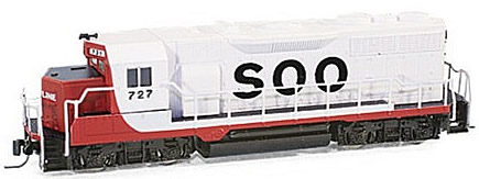 Consignment MT98101070 - Micro Trains 98101070 USA Diesel Locomotive GP35 of the SOO - 727