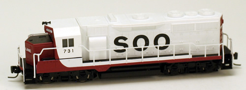 Consignment MT98101072 - Micro Trains 98101072 USA Diesel Locomotive GP35 of the SOO - 731
