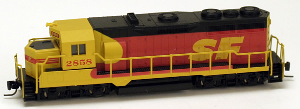 Consignment MT98101160 - Micro Trains 98101160 USA Diesel Locomotive GP35 of the AT&SF - 2858