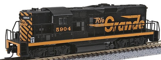Consignment MT98201051 - Micro Trains 98201051 USA Diesel Locomotive GP9 of the D&RGW – 5904