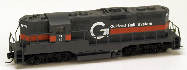 Consignment MT98201082 - Micro Trains 98201082 USA Diesel Locomotive GP9 of the Guilford Rail System – 54