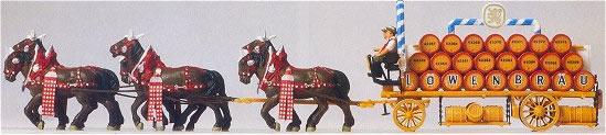 Consignment PR30437 - Preiser 30437 Six Horse Beer Wagon