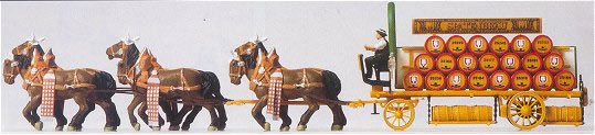 Consignment PR30438 - Preiser 30438 Six Horse Beer Wagon