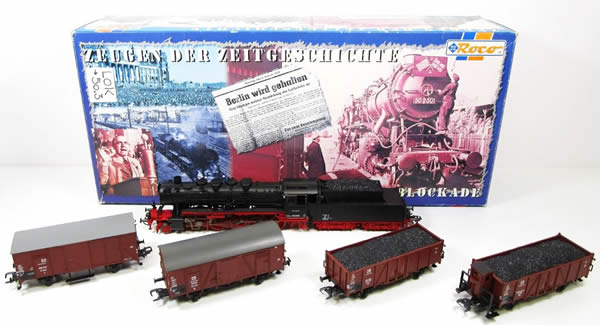 Consignment RO43145 - Roco 43145 German 4pc Freight Set with Steam Locomotive of the DR