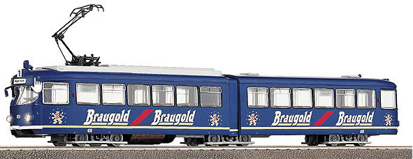 Consignment RO43180 - Roco Tram - Guided Duwag tram set Braugold