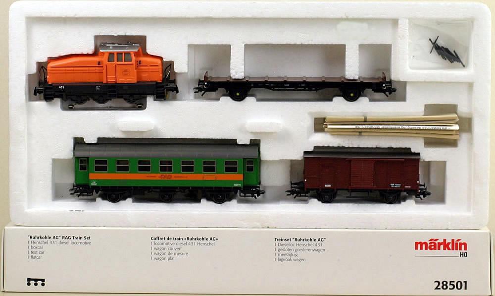 Consignment 28501 marklin 28501 freight car set w diesel locomotive