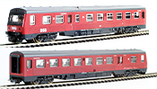 Lima Danish 2pc Railcar Set MR + MRD Dummy of the DSB