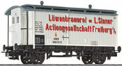 Liliput Beer Wagon with Brakeman's Cab & Protective cover SINNER Baden