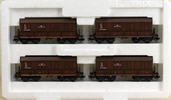 Trix 4pc Railroad & Harbors Ore Transport Car Set