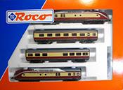 Roco 43011 German Trans Europ Express Vt 115 Rail Car Setof the DB