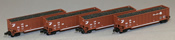 AZL - 4pc Coal Transport Car Set Conrail