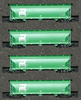 AZL 90302-1 - 4pc Bay Hopper Car Set of the BN