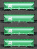 AZL 90302-2 - 4pc Bay Hopper Car Set of the BN