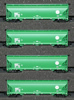 AZL - 4pc Bay Hopper Car Set of the BNSF