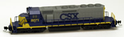 Micro Trains 97001141 USA Diesel Locomotive SD40-2 of the CSX Transportation- 8071