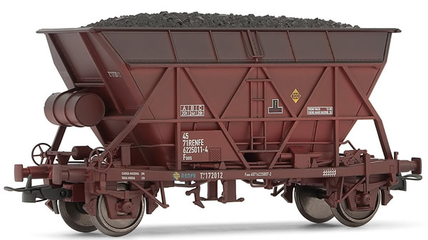 Electrotren E0921 - Hopper Wagon, weathered, with coal load