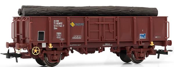Electrotren E1263 - Gondola RENFE, type Elos, loaded with logs