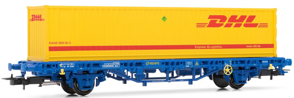"""Electrotren E1462 - MC1 Wagon, type Lgs, loaded with container """"DHL"""""""