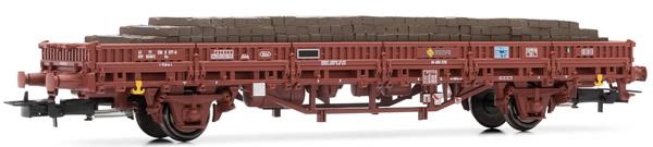Electrotren E1463 - Low side wagon RENFE, type Ks, loaded with wood sleepers