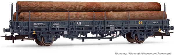 Electrotren E1659 - 2-axle wagon Kbs loaded with logs