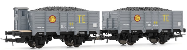 Electrotren E19020 - 2pc Unified High-Sided Wagons TE Set
