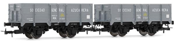Electrotren E19022 - 2pc Unified High-sided Wagon Set Sociedad General Azucarera