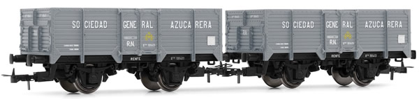 Electrotren E19022 - 2pc Unified High-sided Wagon Set Sociedad General Azucarera