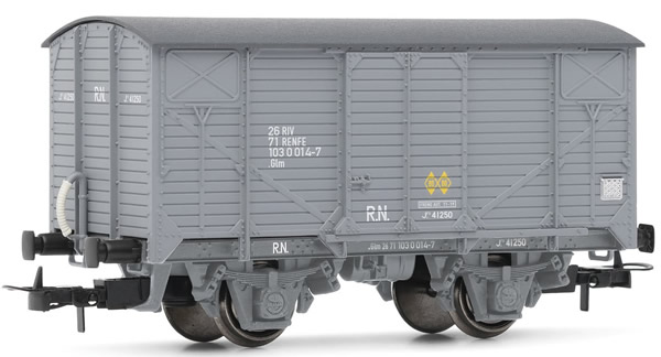 Electrotren E19026 - Wagon type J in grey livery with grey chassis