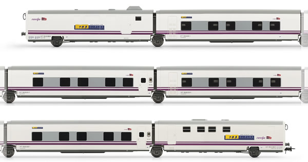 Electrotren e3272 spanish 6pc coach set train hotel for Elipsos trenhotel