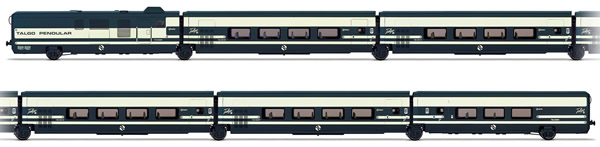 Electrotren E3279 - 6pc Talgo Pendular Base Set