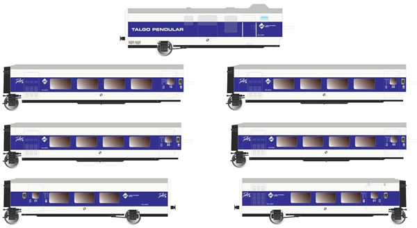 "Electrotren E3345 - 6pc Base Set Talgo Pendular ""Largo Recorrido"""