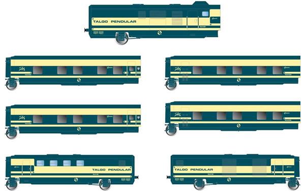 Electrotren E3350 - 6pc Base Set Trenhotel Talgo