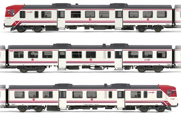 "Electrotren E3420 - Spanish 3pc Set DMU class 592 ""Cercanías"" of the RENFE"