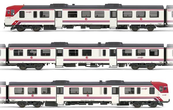 "Electrotren E3420D - Spanish 3pc Set DMU class 592 ""Cercanías"" (DCC Decoder) of the RENFE"