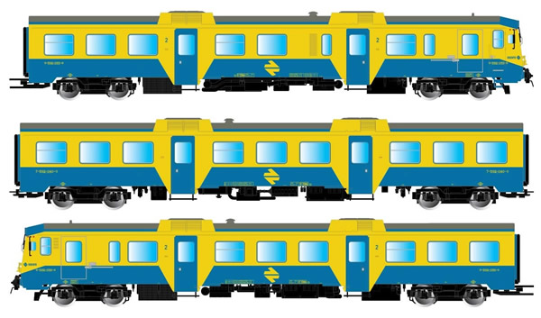 Electrotren E3421 - Spanish 3pc Set DMU class 592 of the RENFE