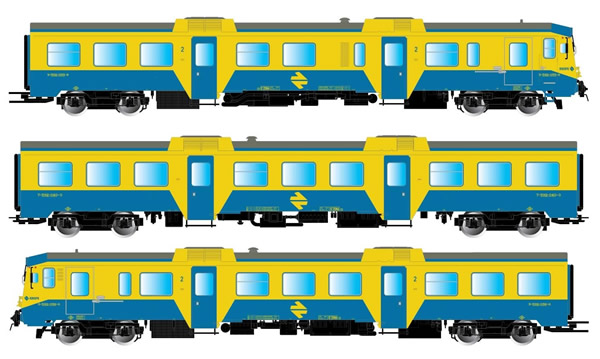 Electrotren E3421D - Spanish 3pc Set DMU class 592 of the RENFE (DCC Decoder)