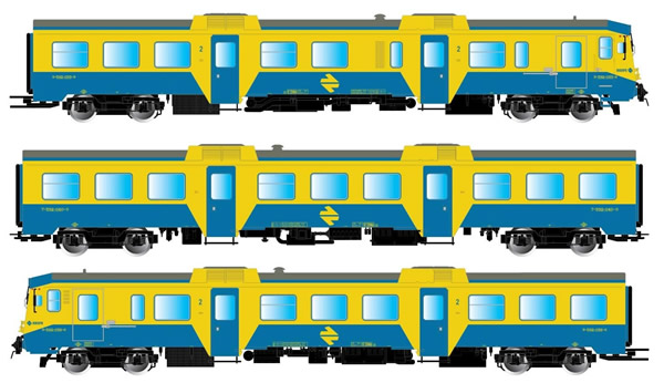 Electrotren E3421S - Spanish 3pc Set DMU class 592 of the RENFE (DCC Sound Decoder)