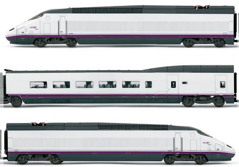 Electrotren E3518 - Spanish 4pc High Speed Train Set AVE S-100 of the RENFE