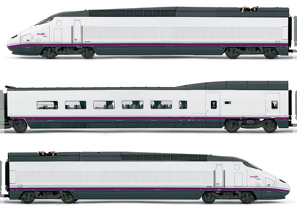 Electrotren E3518D - Spanish 4pc High Speed Train Set AVE S-100 of the RENFE