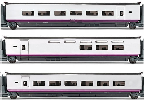 Electrotren E3524 - 3pc Coach Set Euromed S-101 of the RENFE