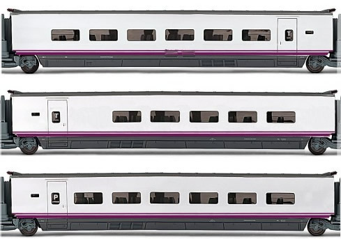 Electrotren E3525 - 3pc Coach Set Euromed S-101 of the RENFE