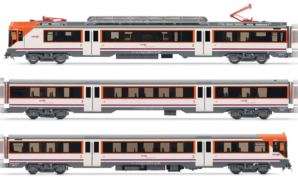 Electrotren E3609S - Spanish Electric Railcar class 470 of the RENFE Operadora (DCC Sound Decoder)