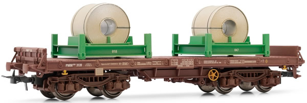 Electrotren E5173 - Flat Wagon, type Rmms, loaded with coils, weathered