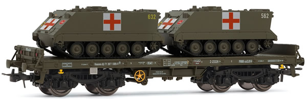 Electrotren E5174 - Low Side Wagon with Medical APCs